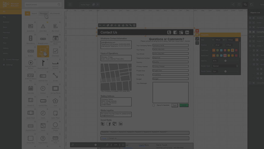 Mockup Builder — Online web prototyping wireframe tools
